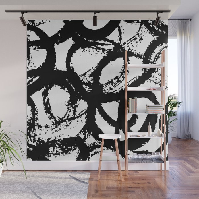 Dance Black and White Wall Mural
