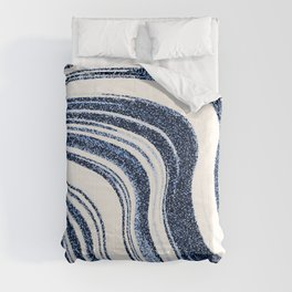 Textured Marble - Indigo Blue Comforters