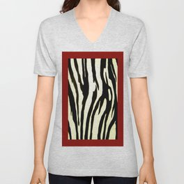 Zebra Pattern Unisex V-Neck