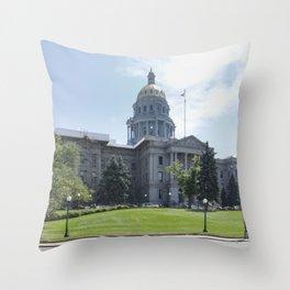 Capitol Building Denver Throw Pillow