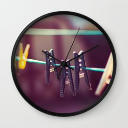 Pegs Wall Clock