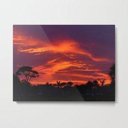 Electric Florida Sunset Metal Print