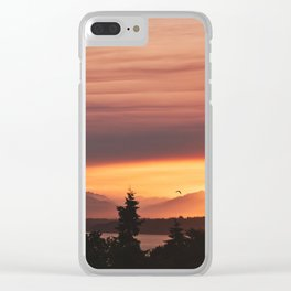 Smoky Sunset Clear iPhone Case