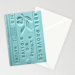 blue french marseille soap Stationery Cards
