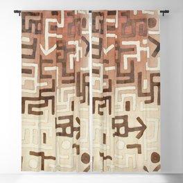 Kuba Congo Central African Wraparound Skirt Print 1 Blackout Curtain