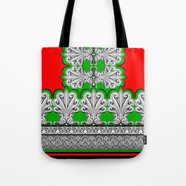 Holiday Frett Panel Print Tote Bag