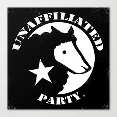 UNAFFILIATED PARTY STENCIL Canvas Print