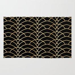 Art Deco Series - Black & Gold Rug