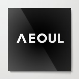 Seoul [Hangul] Metal Print