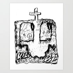 Happy Grave Art Print
