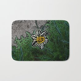 Surreal White Daisy  Bath Mat