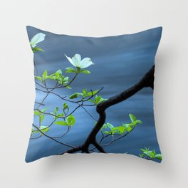 Blooming Dogwoods Throw Pillow