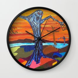 Screaming Tree (oil sketch for 'The Screaming Trees' painting) Wall Clock