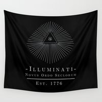 illuminati Wall Tapestries featuring Illuminati by Fabian Bross