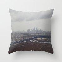 philadelphia Throw Pillows featuring Philadelphia  by Danielle Dimon