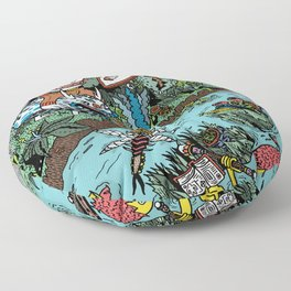 Some of us were born to explore!  Floor Pillow