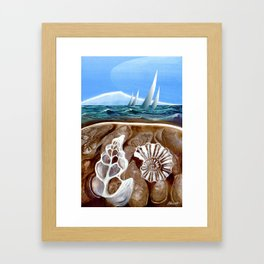 The Geology of Boating Framed Art Print