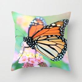 October Monarch Throw Pillow