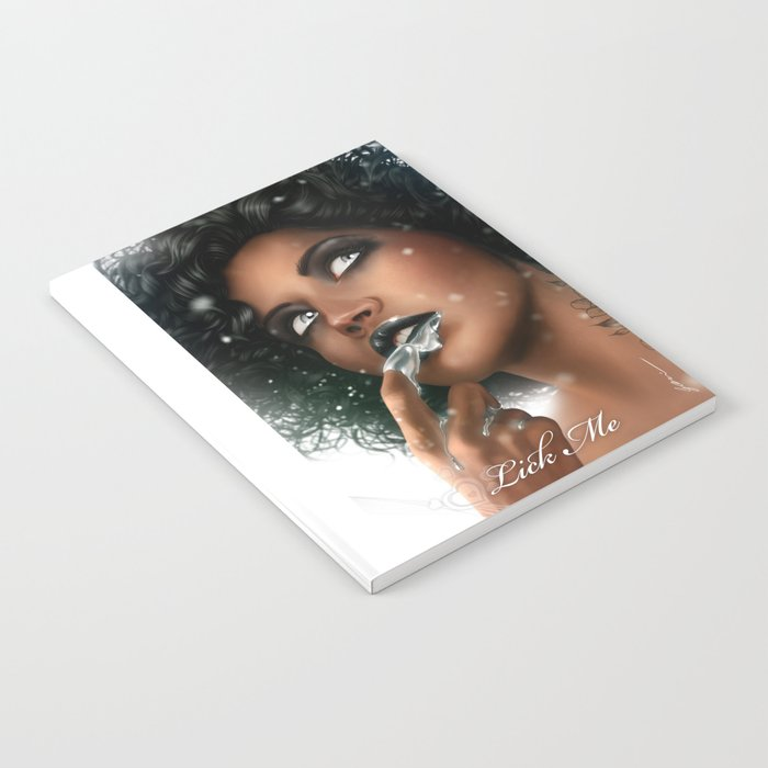 LICK ME - Black Notebook