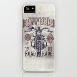 Vintage Motorcycle Poster Style iPhone Case