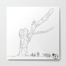 Dead Tree Lines Metal Print