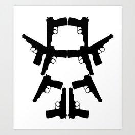 Pistol Robot Art Print