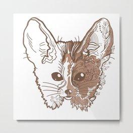 Fennec fox face Metal Print