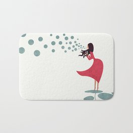 I'm bubbling. That state of absolute happiness when you are ready to fly. Bath Mat
