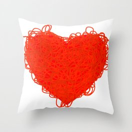 Scribbly Love Throw Pillow