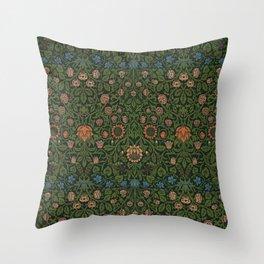 Violet and Columbine - William Morris Throw Pillow