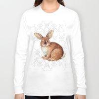 rabbit Long Sleeve T-shirts featuring Rabbit by Patrizia Ambrosini