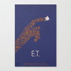 E.T. Fan Poster Canvas Print