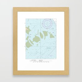 Florida Keys Nautical Chart Framed Art Print