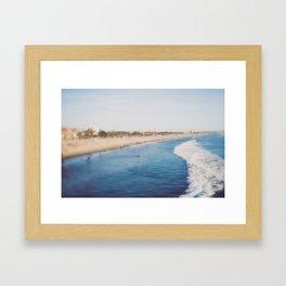 Beach Day at Santa Monica Framed Art Print