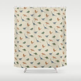 Dino Pals (Khaki) Shower Curtain