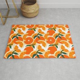 Orange Harvest - White Rug