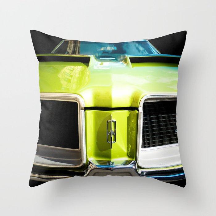 Auto Parts:  Green Machine! - Center Version Throw Pillow