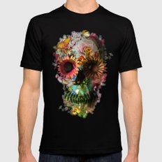 SKULL 2 Black LARGE Mens Fitted Tee