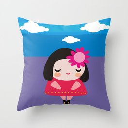 en las  nubes Throw Pillow