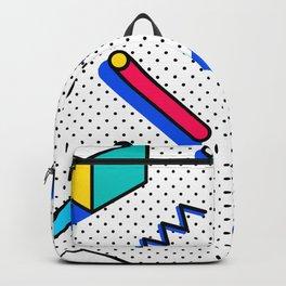 Patern in memphis, pop art style Backpack