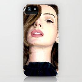 Pretty girl selfie iPhone Case