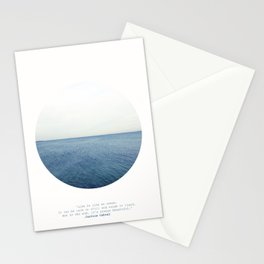 Life is like an ocean. It can be calm or still and rough or rigid. Stationery Cards