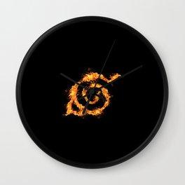Konoha on Fire Wall Clock