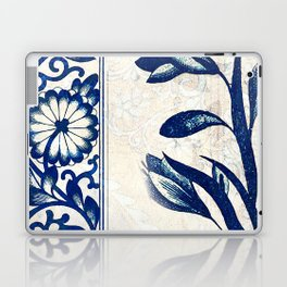 Blue Oriental Vintage Tile 03 Laptop & iPad Skin