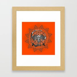 Skull and Crossbones Medallion Framed Art Print