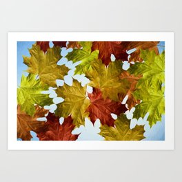 Autumn Leaf Brite Art Print