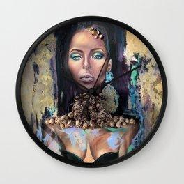 Queen of Sheba Portrait - Modern Art Wall Clock