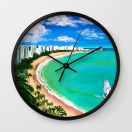 Isla Verde, San Juan, Carolina, Puerto Rico Wall Clock