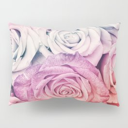 Some people grumble II  Floral rose flowers pink and multicolor Pillow Sham