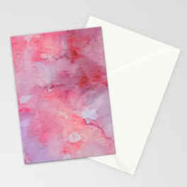 watercolor_red Stationery Cards